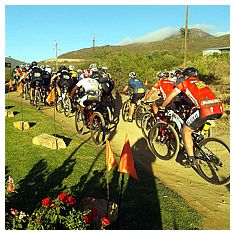 The annual Cape Epic Mountain Bike Race passes through Modderfontein.
