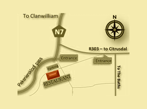 The Old Village Citrusdal Location Map